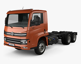 3D model Volkswagen Delivery 13-180 Chassis Truck 3-axle
