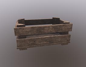 Wooden Crate V2 Dark 3D asset game-ready