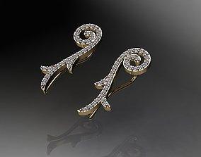 3D print model New design earrings 2020