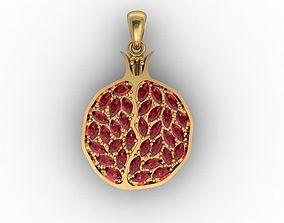 pomegranate pendant 3D printable model