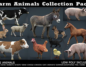 3D asset Farm Animals Collection Pack