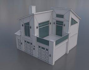 Villa House 3D model low-poly