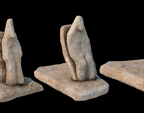 3D Stone totems kit with PBR workflow for V-Ray