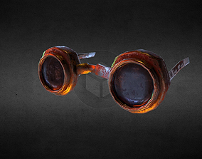 3D model low-poly Steampunk Post-Apocalyptic Goggles