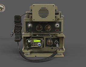 3D Military Radio Barrett PRC-2082