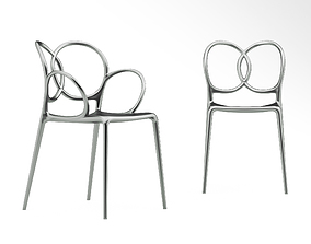 3D model Driade Sissi chair and armchair