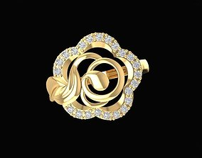 3D print model 1480 diamond rose ring