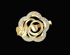 3D print model 1480 diamond rose ring