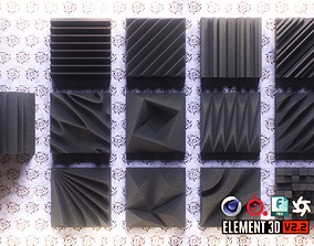 Acoustic Panels Kitbash Pack 3D model