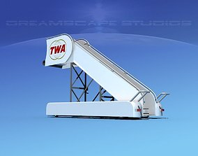3D Airport Stairs TWA