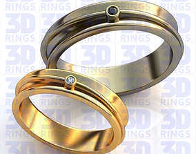 3D Wedding rings 542