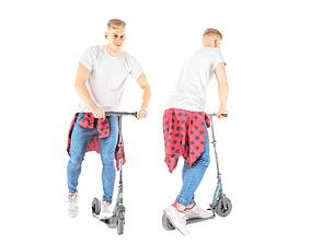 Stylish man on a scooter 29 3D model