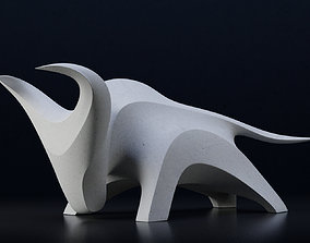 3D model Modern abstract bull sculpture