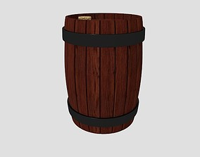 Corked Barrel 3D model