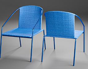 PBR furniture Modern Outdoor Rattan Bistro Chair 3D Model
