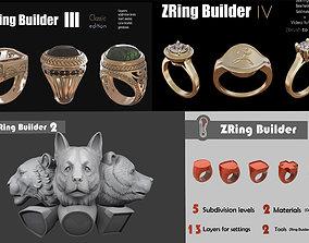 3D model Zbrush Ring builder pack