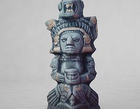 3D model Maya Statue