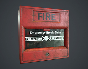 3D model Fire Alarm Button PBR Game Ready