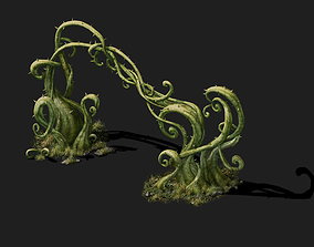- poison Valley Scene - poisonous plant thorn 01 3D model