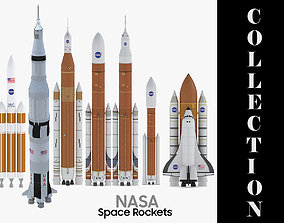 7 Models NASA Space Rockets Collection