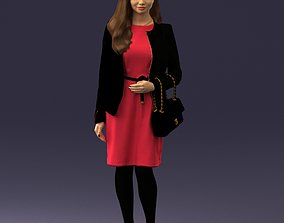 Woman with bag 0125 3D Print Ready