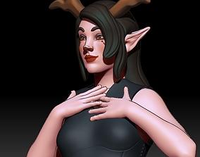 3D print model Cartoon deer girl