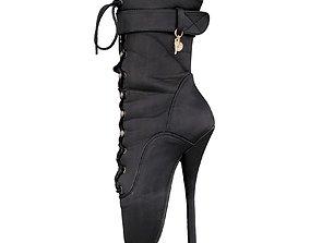 Stiletto Ballet Heels 3D model