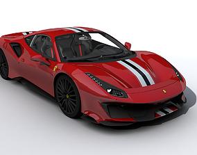 3D asset 2019 Ferrari 488 GTB Pista