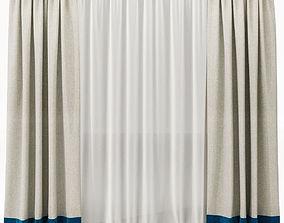 Curtains 3D model fabric curtain