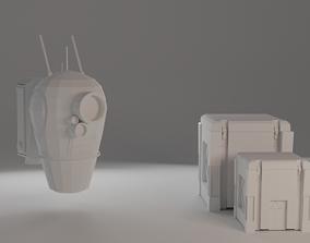 Robot mecanic assistant 3D asset