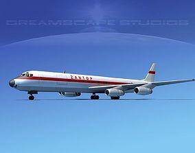 Douglas DC-8-63F Zantop 3D model