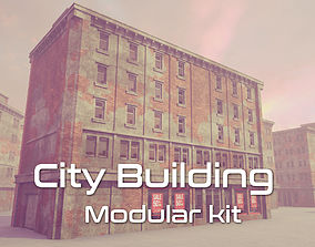 City Building Modular Kit modular 3D asset