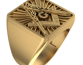 3D print model Masonic ring - 89