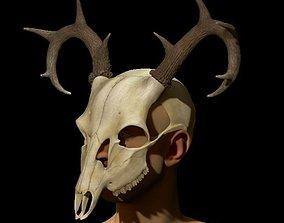 3D print model Halloween mask - Deer Skull