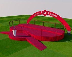 3D asset Winner sport podium
