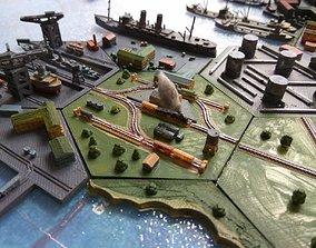 Train station hex 3D print model