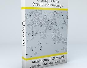 3D model Urumqi Streets and Buildings