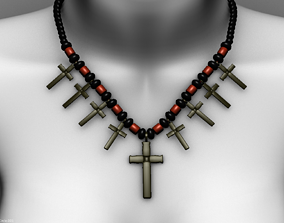 Necklace earrings 3D asset game-ready