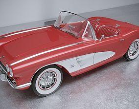 Chevrolet Corvette 1961 3D model corvette