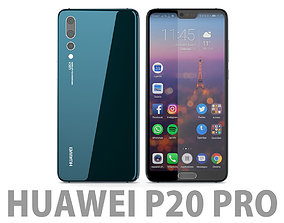 3D Huawei P20 Pro Midnight Blue honor