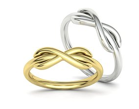 8ring Tiffany-Style infinity ring 3d model