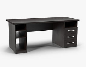 Desk Wenge 3D model realtime