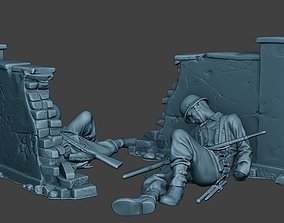 German soldier ww2 Killed3 G6 3D print model