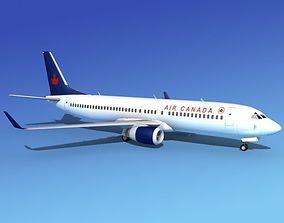 3D model Boeing 737-800 Air Canada