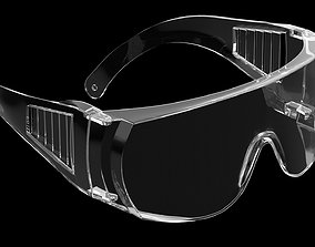 3D model Safety glasses isolated