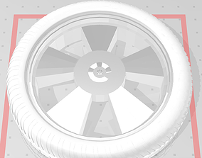 3D printable model 5 star deep dish rim and tyre
