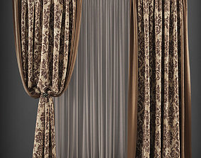 VR / AR ready Curtain 3D model 149
