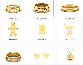 150 Plain Gold Ring Earrings Pendant 3dm stl render