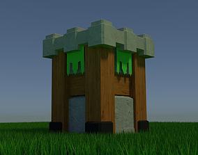 3D asset Archer Tower