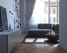 3D model Living room v1